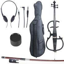 Cecilio 4/4 CECO-2BK Black Metallic Electric Cello with