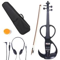 Cecilio 4/4 CEVN-3BK Solid Wood Electric/Silent Violin with