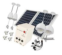 4 Lamps 25W Solar Pane Lithum Battery Solar Home System