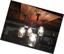 4 mason jar barn wood pipe fitting ceiling light