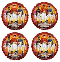 "4 Power Rangers Megaforce 17"" Mylar Balloons"