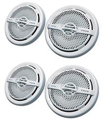 "4) Sony XS-MP1611 6.5"" 280 Watt Dual Cone Marine Speakers"