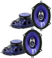 Pyle PL573BL 6x8-Inch 600W 3-Way Speakers