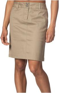 "Dickies Girl Juniors 18"" 4 Pocket Double Button Skirt,Khaki,"