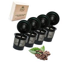 4 Reusable Single Cup Keurig Solo Filter Pod Coffee