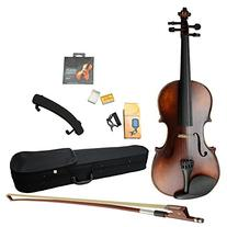 4/4 Full Size Solid Wood Violin Student Violin Starter Kit