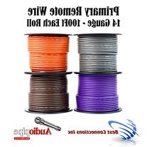 4 Spools 100' Feet 14 GA Gauge AWG Primary Remote Wire Auto