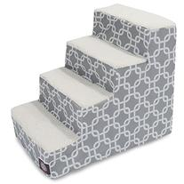 4 Step Portable Pet Stairs By Majestic Pet Products Gray