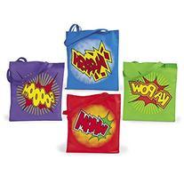 "4 ~ Super Hero Tote Bags / Gift Bags ~ Large 15"" X 16 1/2"""