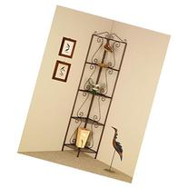 Coaster 4 Tier Corner Shelf Goldish Copper