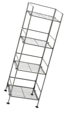 Seville Classics 4-Tier Iron Square Tower Shelving