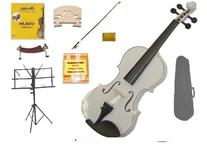 GRACE 4/4 Size White Acoustic Violin with Case and Bow+Rosin