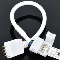4-wire Solderless Clip to 4-pin Male 6-inch Cable for RGB