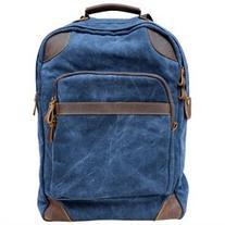 Gootium 40589NV Canvas Leather Laptop Backpack Rucksack