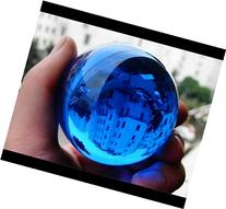 40mm Asian Rare Natural Quartz Blue Magic Crystal Healing