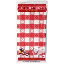 Party Dimensions 41215 54 in. x 108 in. Red Gingham