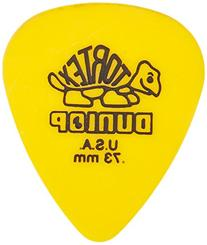 Dunlop 418P.73 Tortex® Standard, Yellow, .73mm, 12/Player's