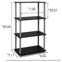 43.7 Bookcase, Black / Grey