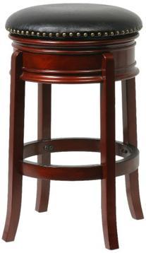 Boraam 43929 Hamilton Bar Height Swivel Stool, 29-Inch,