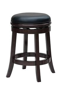 Boraam 44824 Backless Counter Stool, 25 Inch, Cappuccino