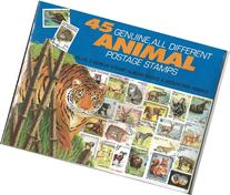 45 Genuine Postage Stamps Assortment - Animals