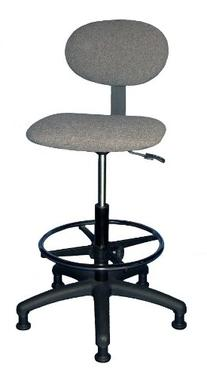 """4507T-M-06 Upholstered Industrial Chair Height 24 1/4""""- 34 1"""