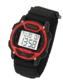 Armitron Sport Unisex 457004RED Silver-Tone and Red Accented