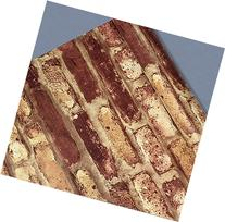 45cmx10m Roll Rusty Red/Yellow Stacked Bricks/stones Vinyl