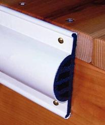 Taylor Made 46013 Comm Side Guard White 10 Ft Coil Re