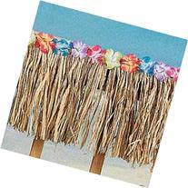 48 FT Natural Real Raffia Fringe Flower Grass Table Skirt