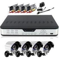 4CH CCTV Security Outdoor IR Camera DVR System 500GB