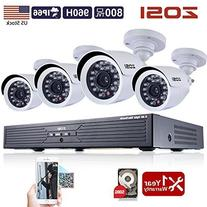 ZOSI 8CH Security Camera System 1080N DVR Reorder with 1TB