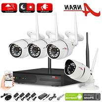 ANRAN 4CH Network NVR Security System Wifi Kit Megapixel
