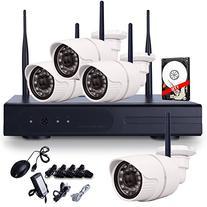 ANRAN 4CH Wireless NVR CCTV System 7200P IP Camera WIFI