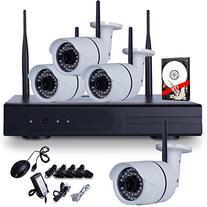 ANRAN 4CH NVR 720P 4 IP Wireless Outdoor IR Night Vision