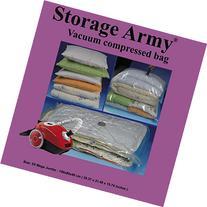 5 Mega Jumbo Storage Bags Seal Compressed Vacuum Bag Storage Home Organizer Comforter Space Saver & Travel Storage Bag By Storage Army® protection