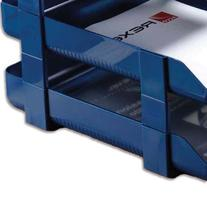 Rexel 5 Agenda Letter Tray Height Risers - Blue