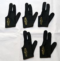 5 Champion Sport Black Pool Glove Right Handed ,get One Free