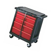 5-Drawer Mobile Workcenter 32.6X19.8X33.5 Bla/Red