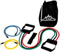 Black Mountain Products 5 Resistance Bands Set with Door