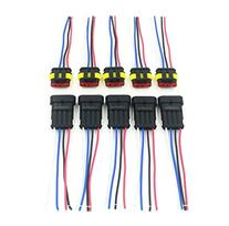 CrazyEve 5 Sets 4 Pin Car Waterproof Electrical Connector