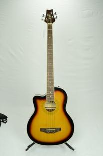 5 String Cutaway Tobacco Sunburst Acoustic Electric Bass