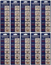 50 Powertron CR1025 Lithium Button Cell batteries, 5-Pcs