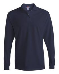 Jerzees Mens 50/50 Long-Sleeve Jersey Polo with SpotShield
