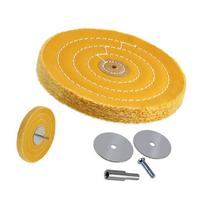 50-Ply 6-inch Heavyweight Stiff Cotton Canvas Buffing Wheel