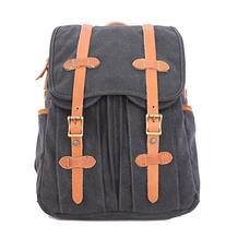 Gootium 50410GRY Canvas Genuine Leather Backpack,Grey
