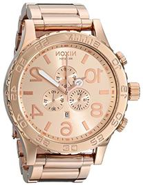 Nixon Men's 51-30 Chrono Watch Rose Gold Tone Solid