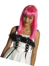 52669/144  Glitter Vamp Child Wig Pink