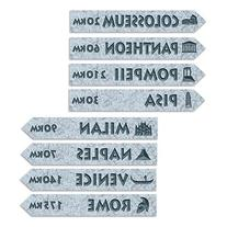 Beistle 54244 Italian Street Signs Cutouts, Pack Of 12