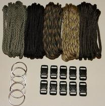 Paracord 550  Kit - Five Colors  100 Feet Total w/10 3/8""